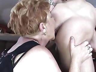 top rated Horny grannies fuck at the bar milf