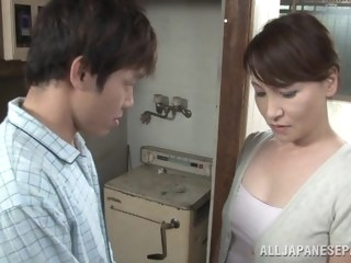 asian Hot Japanese milf Yuuri Saejima in a tough screwing action japanese