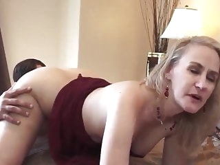 blonde 50+ super milf blowjob